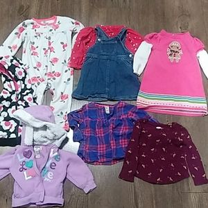 18m bundle girls toddler fall winter carters lot